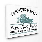 Cuadro en Lienzo Farmers Market Vintage 61x76