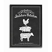 Cuadro en Lienzo Enmarcado Butchers Selection 41x51