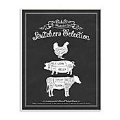 Cuadro Decorativo Butchers Selection Placa 25x38