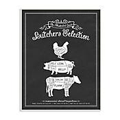 Cuadro Decorativo Butchers Selection Placa 32x47