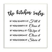 Cuadro Decorativo The Kitchen Rules Placa 25x38