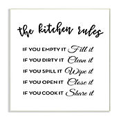 Cuadro Decorativo The Kitchen Rules Placa 32x47