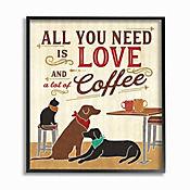 Cuadro en Lienzo Enmarcado All You Need Is Love Coffee 28x36