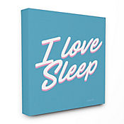 Cuadro en Lienzo I Love Sleep 76x102