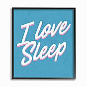Cuadro en Lienzo Enmarcado I Love Sleep 28x36