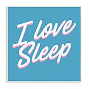 Cuadro Decorativo I Love Sleep Placa 25x38