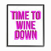Cuadro en Lienzo Enmarcado Time To Wine Down 41x51