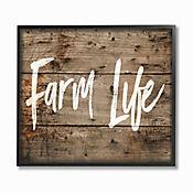 Cuadro en Lienzo Enmarcado Farm Life 41x51