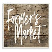 Cuadro Decorativo Farmers Market Placa 25x38
