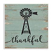 Cuadro Decorativo Thankful Vintage Windmill Placa 32x47