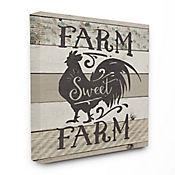 Cuadro en Lienzo Farm Sweet Farm Rooster 76x102