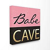 Cuadro en Lienzo Babe Cave Pink Gold 43x43