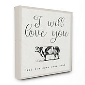 Cuadro en Lienzo Love You Till The Cows Come Home 61x76