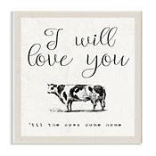 Cuadro Decorativo Love You Till The Cows Placa 25x38
