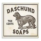 Cuadro Decorativo Daschund Soap Vintage Sign Placa 25x38