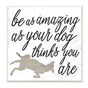 Cuadro Decorativo Be Amazing As Your Dog Placa 30x30