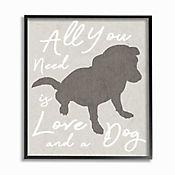 Cuadro en Lienzo Enmarcado All You Need Is Love Dog 28x36