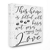 Cuadro en Lienzo Home Filled With Kisses 76x102