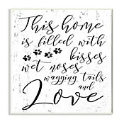 Cuadro Decorativo Home Filled With Kisses Placa 25x38