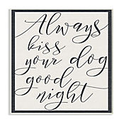 Cuadro Decorativo Always Kiss Your Dog Tan Placa 32x47