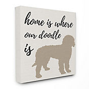 Cuadro en Lienzo Home Is Where Our Doodle Is 61x76