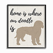 Cuadro en Lienzo Enmarcado Home Is Where Our Doodle 28x36
