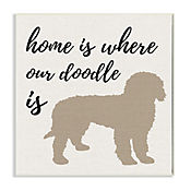 Cuadro Decorativo Home Is Where Our Doodle Placa 25x38