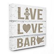 Cuadro en Lienzo Live Love Bark 76x102