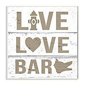 Cuadro Decorativo Live Love Bark Placa 32x47