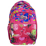 Morral Escolar Niña Estampado Tropical RBA608-15F Fucsia