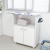 Mesa de Planchar Rosa 100,5x83x35,3 Blanco