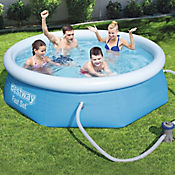 Piscina Borde Inflable Red 244 x 66 cm Con Bomba