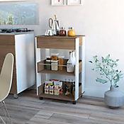 Mueble Auxiliar De Cocina Verona Blanco + Café Expreso 1 cajón 88.6x57.2x39.7 cm