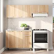 Cocina Integral Multipla 1.75 Metros Cedro incluye mesón Izquierdo