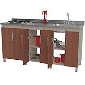 Mueble para Cocina Modular Inferior Versalles RH 92 cm Alto x 177 cm 48 cm Cedro Serena