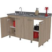 Mueble para Cocina Inferior Paris 92 cm Alto x 150 cm Ancho x 52 cm Profundidad Capuchino