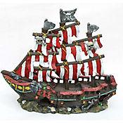 Decoración para Acuario Barco Pirate Franjas