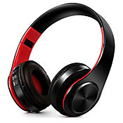 Audífonos Inalámbricos Bluetooth Estéreo Plegables Rojo