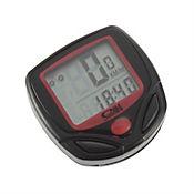 Velocímetro Odómetro Cronometro LCD Impermeable Bicicleta Negro