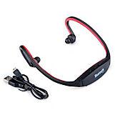 Audífonos Deportivo Inalámbrico Bluetooth 3.0 Micrófono Rojo