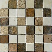 Mosaico Decorado 30.5cm x 30.5cm x 3 Unidades Beige