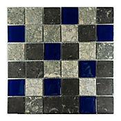 Mosaico Decorado Marmol Malla Vidrio 30.5cm x 30.5cm x 3 Unidades Gris