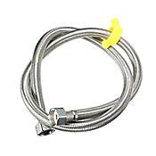 Acople Manguera en Acero 304- 1/2 x 1/2 Pulgada para Válvula de Pedal 1 Metro Satín