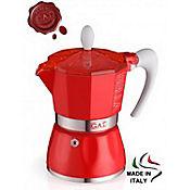 Cafetera Bella 6 Tazas de Aluminio Color Rojo