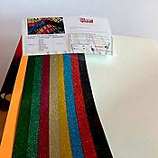Vinilo Textil Glitter 10 Laminas + Metal 2 Laminas