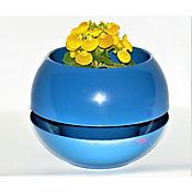 Matera en Plástico Reciclado Azul  22,5 cm