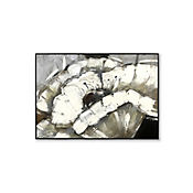 Retablo Floral Blanco 50x70x3 cm