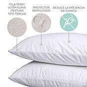 Protector de Almohada Terry 100% Impermeable 70x50 cm