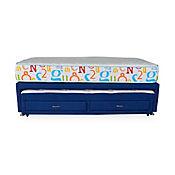 Cama Nido Santy Sencilla Memphis 100x190x42 Azul