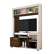 Panel para TV Suspensa Frizz 135x160x37 Blanco/Savana